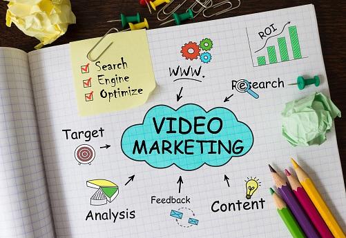 video marketing notebook