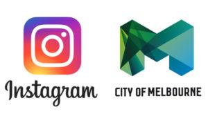 Instagram and City of Melbourne logos, graphic design and color