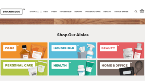 Brandless web page with duo tone color and graphic design